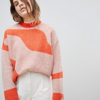 Weekday Jacquard Knit Sweater at asos.com