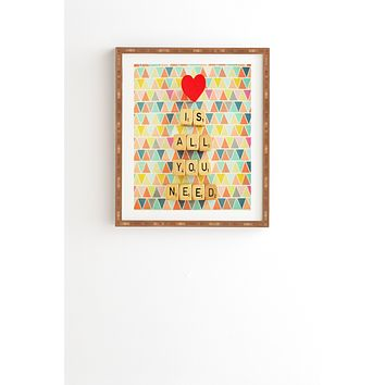 Happee Monkee Love Is All You Need Framed Wall Art