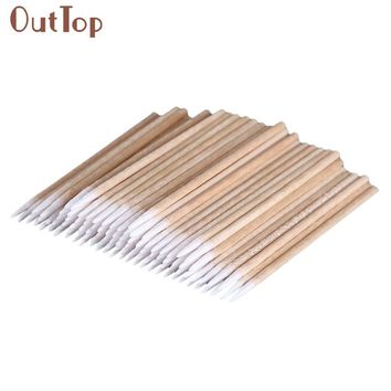 New Arrival 100pcs Permanent Makeup Cotton Pointed Swab Medical Cure Health Makeup Stick J170130