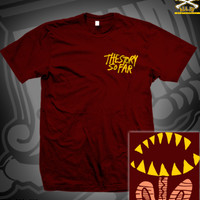 TSSF TEETH TEE ON MAROON **TOUR RETURN