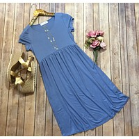 The Perfect spring dress in blue