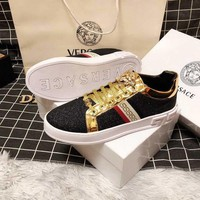 DCCK Versace  Men Casual Shoes Boots fashionable casual leather