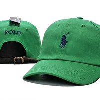 Green POLO Embroidered Baseball cotton cap Hat