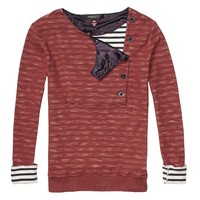 Sweat Top With Special Sailor Inspired Closure - Scotch & Soda
