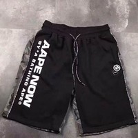 AAPE 2018 Summer New Side Ribbon Velcro Casual Sports Shorts F-CN-CFPFGYS