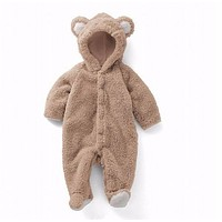 born baby romper Winter costume baby boys clothes Coral Fleece warm baby girls clothing Animal Overall baby rompers jumpsuit