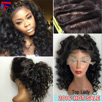 Brazilian Full Lace Human Hair Wigs For Black Women Loose Wave Front Lace Wig With Baby Hair Glueless Lace Front Human Hair Wigs