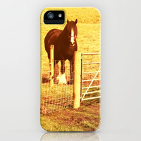 Vintage Horses iPhone Case by Elizabeth Wilson Photography | Society6