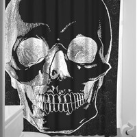 Anatomical Skull Shower Curtain