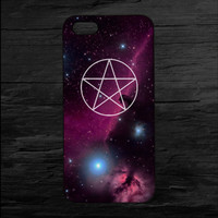 Pentagram Galaxy Print iPhone 4 and 5 Case