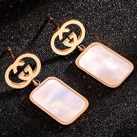 GUCCI Tide brand new women's box earrings