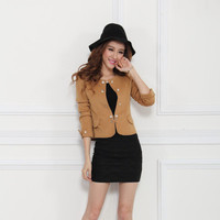 2016 Trending Fashion Women Slim Long Sleeve Slim Skinny Business Casual Suit  Sweater Cardigan Coat Jacket Outerwear Suit Jacket _ 9366