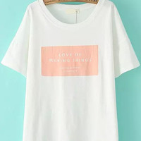 Love Of Making Things Graphic Print White Shirt