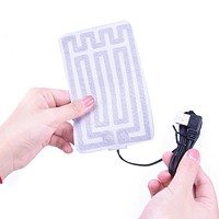 1pc 5V Carbon Fiber Heating Pad Hand Warmer USB Heating Film Electric Winter Infrared Fever Heat Mat For Family Or Outdoor