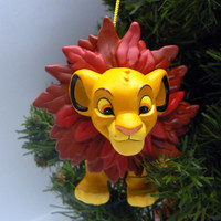 Disney Lion King Simba Cub Ornament Christmas Magic Grolier Holiday Ornament Walt Disney