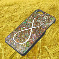 infinity glitter iphone 4 4s 5 5s 5c galaxy s3 s4 hard case rubber cover plastic