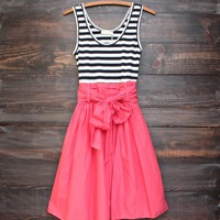 new memories pin up girl dress with stripes