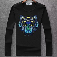 Boys & Men Kenzo Fashion Casual Long Sleeve Shirt Top Tee
