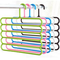 1Pc Multi-Purpose Five-layer Pants Hanger Tie Towels Clothes Rack Space Saving Home Organization