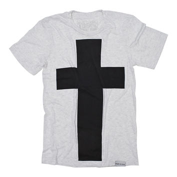 Cross White Fleck T-Shirt