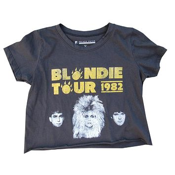 Blondie Tour Crop Tee