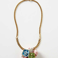 Anthropologie - High Tea Floral Pendant Necklace