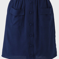 Shelby Pocket Skirt In Navy