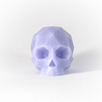 Geometric Skull Candle - Lavender