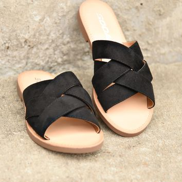 A Walk In The Park Sandals - Black