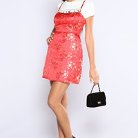 Kyoto Embroidered Dress - Red