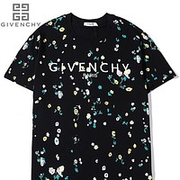 Givenchy high quality classic embroidery pattern  Floral cotton tee shirt top