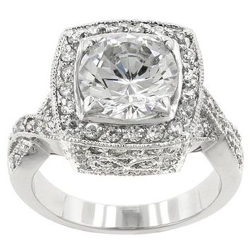 Giovanna Vintage Filigree Engagement Cocktail Ring | 11ct | Cubic Zirconia