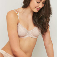 Daisy Nude Lace Underwire Bra - Urban Outfitters