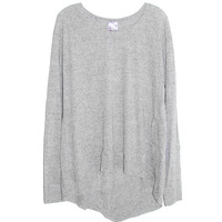 Wilt Long Sleeve Backslant Tee in Heather Grey | Les Pommettes