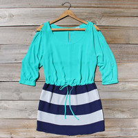 Thundering Waters Dress in Blue