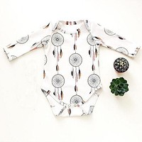 Newborn Baby Boy Girl Jumpsuit Clothes Campanula Outfits Sets