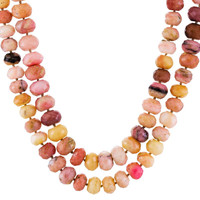 Pink Opal Bead Necklace