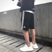 """Adidas"" Unisex Sport Casual Stripe Breathable Couple Shorts Leisure Pants Sweatpants"