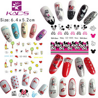 KADS 11sheet set .Water decal Nail Stickers Cartoon Lovely design nail sticker For nail accessories for water transfer sticker