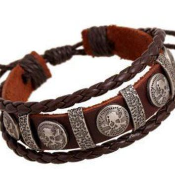 Tribal Genuine Leather Braided Bracelet