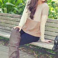 Stacks On Stacks Sweater: Tan | Hope's
