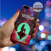 In The Moon light Nebula Ariel The Little Mermaid cover for iPod 4th 5th,iPhone 5,5s,5c,4,4s,6,6+,LG Nexus,HTC One,Galaxy S3,S4,S5,Note 2,3