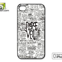 Pierce The Veil Song Lyric iPhone 4 Case Cover by Avallen