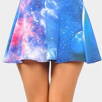 Skater Galaxy Skirt - Blue
