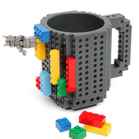 Build-On Brick Mug - Grey