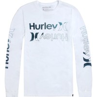 Hurley Dissector Long Sleeve T-Shirt - Mens Tee - White