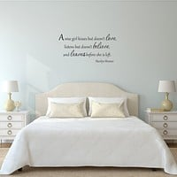 A Wise Girl Kisses But Doesn't Love Marilyn Monroe Decal Wall Quotes
