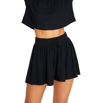 Let's Chill Black Shorts