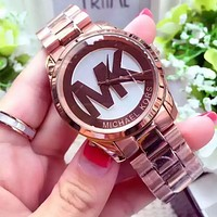 """MICHAEL KROS"" Women Fashion Simple Quartz Watch Casual Wristwatch"