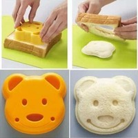 1PCS Bear POP UP Toast Bread Food Sandwich Stamp Mold Cutter Maker Bento Accessories